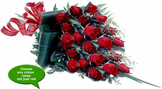 Flora Niche South Africa-Love you tonnes ... <br>24 Roses in cellophane-