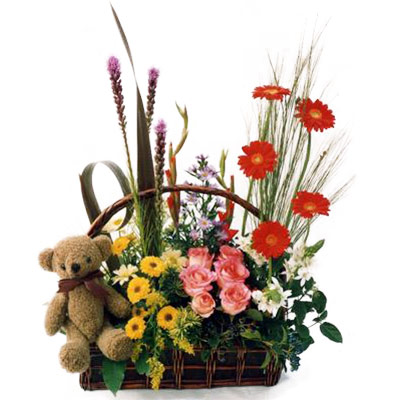 Flora Niche South Africa-You are so cute-A  Modern Arrangement with Teddy Bear