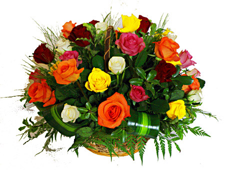 Flora Niche South Africa-Mixed Roses Basket-