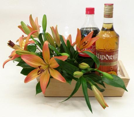 Flora Niche South Africa-Cheers!-Flowers, Klipdrift and Coke