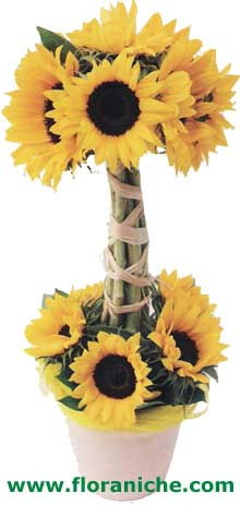 Flora Niche South Africa-Sunflower Smile-Modern Sunflower arrangement